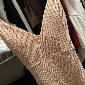Bodycon fitted dress beige